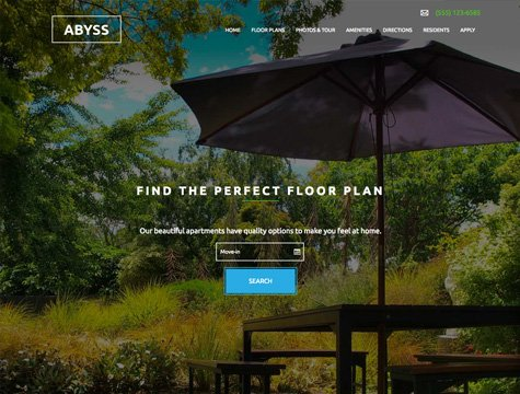 Abyss Premium apartment website design