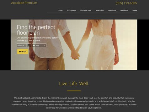 Accolade Premium apartment website design