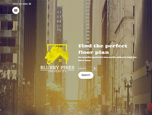 Blur Premium apartment website design