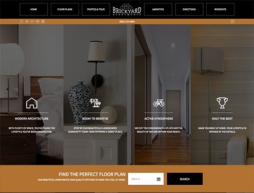 Brick Premium apartment website design