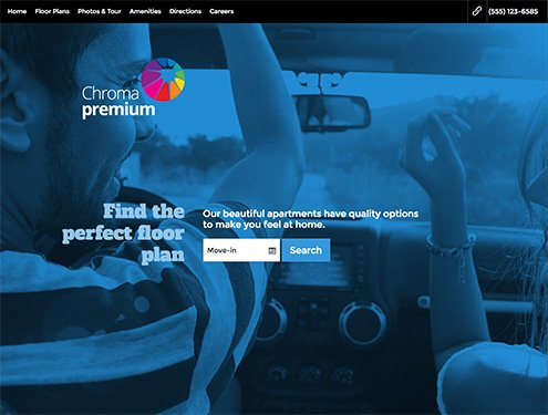 Chroma Premium apartment website design