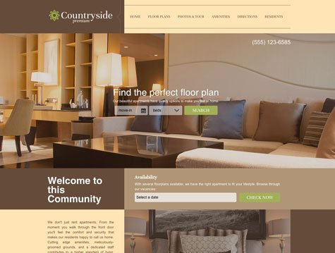 Countryside Premium apartment website design