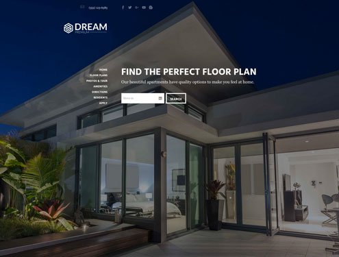 Dream Premium apartment website design