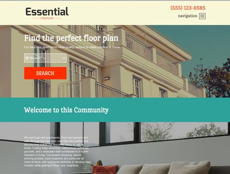 Essential Premium apartment website design