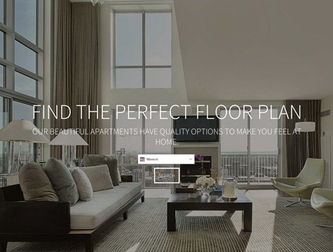 Expanse Premium apartment website design