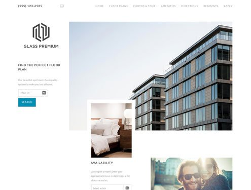 Glass Premium apartment website design