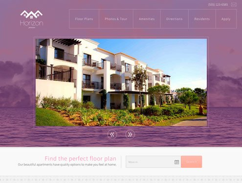 Horizon Premium apartment website design