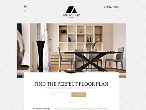 Immaculate Premium apartment website design
