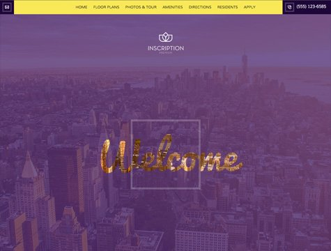 Inscription Premium apartment website design