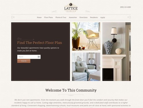 Lattice Premium apartment website design