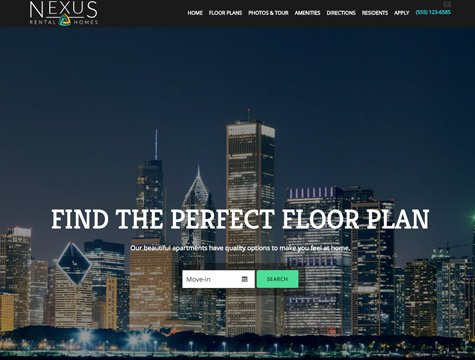 Nexus Premium apartment website design