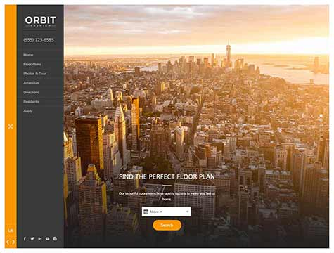 Orbit Premium apartment website design