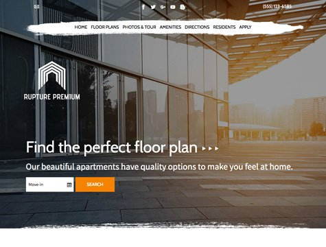 Rupture Premium apartment website design