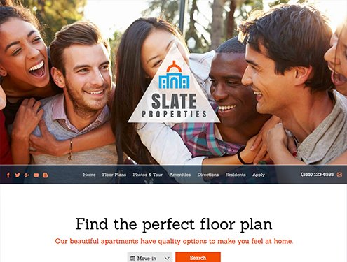 Slate Premium apartment website design