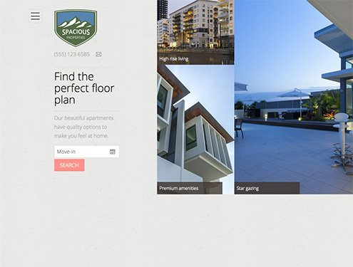 Spacious Premium apartment website design