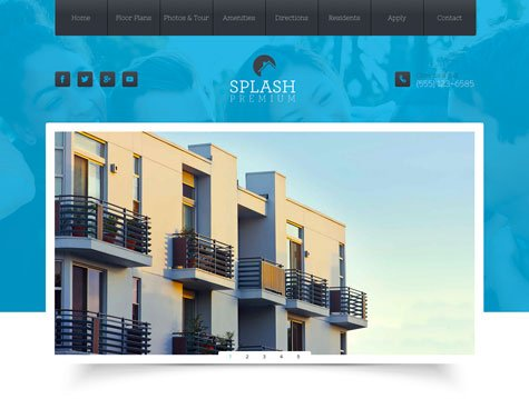Splash Premium apartment website design