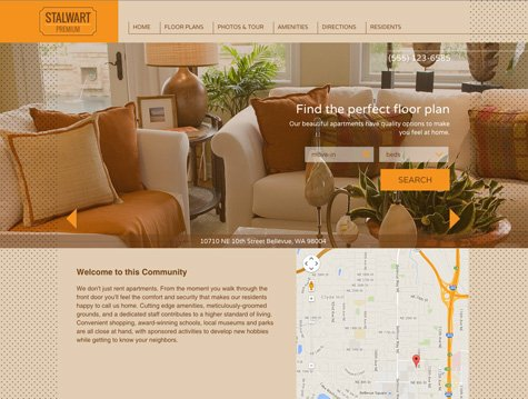 Stalwart Premium apartment website design