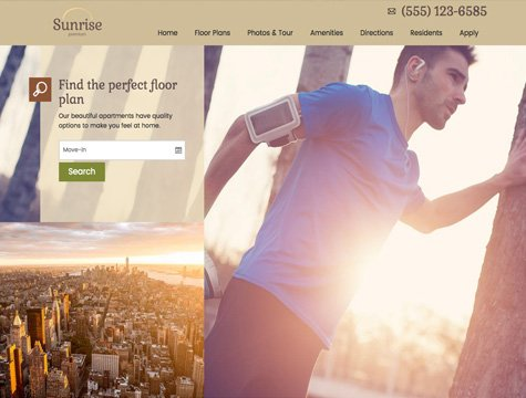 Sunrise Premium apartment website design
