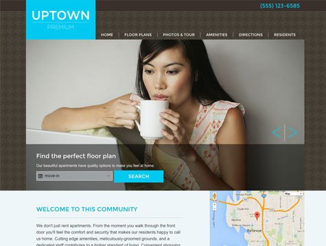 Uptown Premium apartment website design