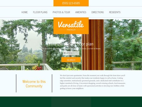 Versatile Premium apartment website design