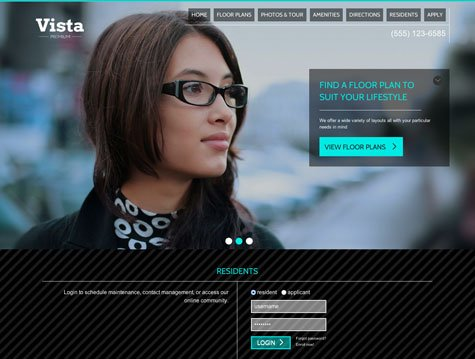 Vista Premium apartment website design