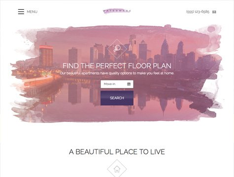 Watermark Premium apartment website design