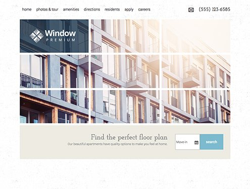 Window Premium apartment website design
